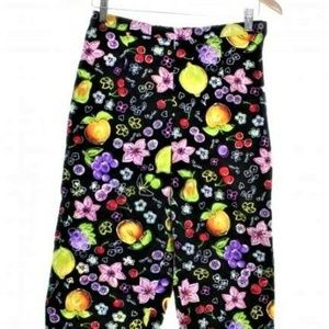 Fruit Capri Pants Size 8 28-29x20 Fruit Stretch